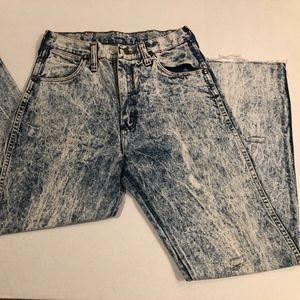 High Rise Acid Wash Wrangler Jeans